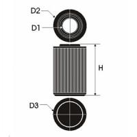 Sportovní filtr Green ALFA ROMEO 156 2,0L 16V Twin Spark  výkon 110kW (150hp) typ motoru AR 32310 rok výroby 02-